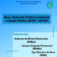 Mesa Redonda- Política Ambiental e Saúde pública (8/12-19:00-20:30)