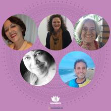 Ana Aurea Johann, Rosa Claudia Onzi, Maria Ismênia Reis Pereira, M. Angelina Pereira e Moisés Marinho