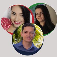 Alice Ferreira, Cibely Martin e Denny Mesquita