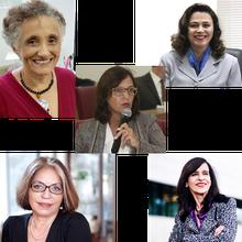 Chair: Profa. Maria Paula Dallari  | Profa. Sorya Smaili | Profa. Marcia Barbosa | Profa. Vanderlan Bolzani | Profa. Ester Sabino