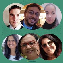 Daniel Amado, Rafael Dall Alba, Camila Gonçalves, Natalia Sales da Rocha, Henriqueta Sacramento e Catia Menezes