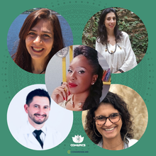 Denise Nagem, Caroline Amanda Lopes Borges, Isabel Prado, Alan Borges e Fabiana Geraldi
