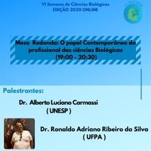 Mesa Redonda- O papel contemporâneo do profissional das Ciências Biológicas (10/12-19:00-20:30)