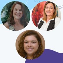 Renata Lopes Britto (BA), Ana Gabriela Travassos (BA) e Marta Finotti (GO)