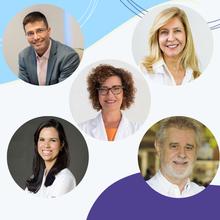Karina Adami (BA), Roberto Antunes (RJ), Maria Cecília Erthal (RJ), Valentina Cotrim (BA) e Geraldo Duarte (SP)