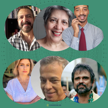 Samuel Zaratin, Josimáteus Geraldo Ataíde Rocha da Silva, Evanize Kelli Siviero Romarco, Robson Lourenço, Jaime Arôxa e Marly Chagas