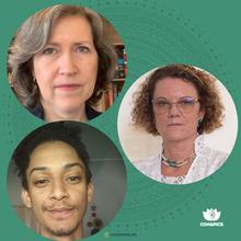 Iracema Benevides, Rosangela Rezende e Anderson Daniel Machado de Jesus Costa