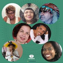 Lilian Rocha, Fátima Tibiriça, Rosivaldo Caetés, Eliana Nunes Ribeiro, José Carlos da Silva, Xicê e Laisa Liane Paineiras Domingos