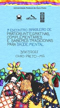 I ENCONTRO BRASILEIRO DE PRATICAS INTEGRATIVAS COMPLEMENTARES E SABERES TRADICIONAIS PARA A SAÚDE MENTAL